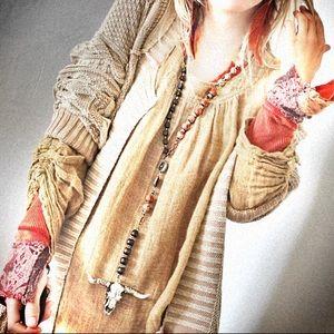 Upcycled multi-bead Tibetan rosary